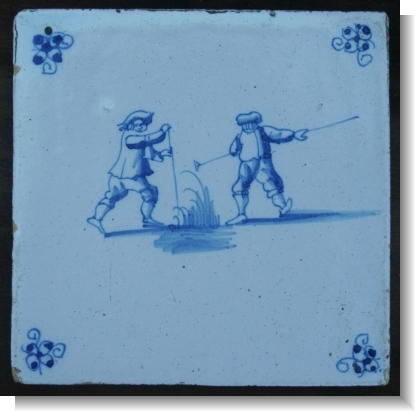 DUTCH DELFT TILE, C.1760