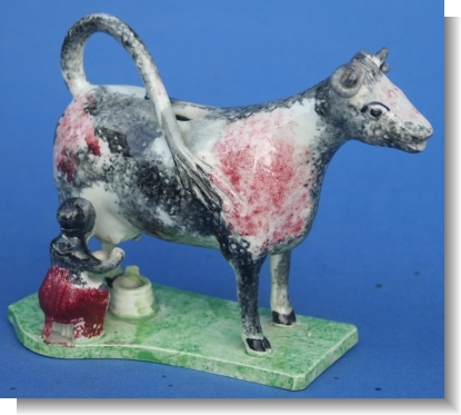 GOOD TEATHERD COW CREAMER c.1820