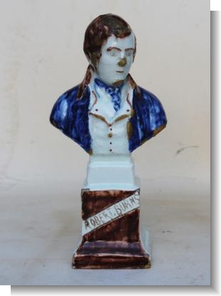 RARE SCOTTISH POTTERY BUST of BURNS