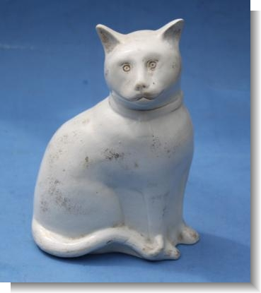 LARGE STAFFORDSHIRE CAT, c.1880