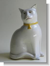 LARGE STAFFORDSHIRE CAT, c.1870.
